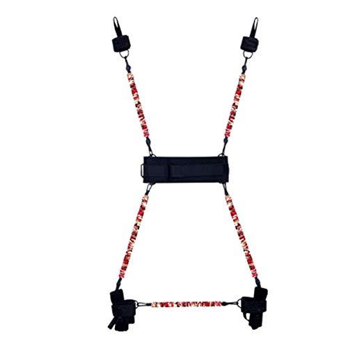 レジスタンスバンドセット保護スリーブ付きスタッカブルエクササイズバンドドアアンカーハンドル手動ホームワークアウトレジスタンストレーニング,125lb