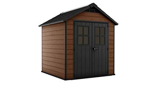 Keter 243410 - Caseta de jardín exterior Newton 759, color marrón