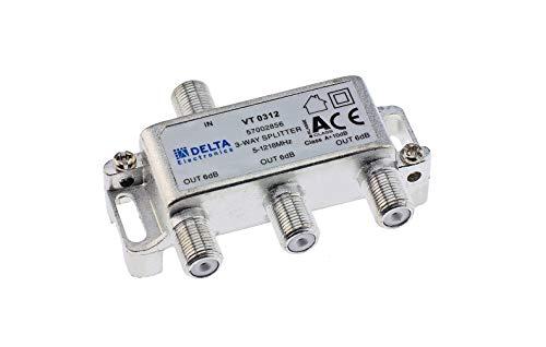 DCT-Delta, F-Verteiler 3-Fach 5-1218 MHz, TV-Verteiler, BK-Verteiler, DVB-C, Kabelfernsehen, Splitter, Class A + 10dB …