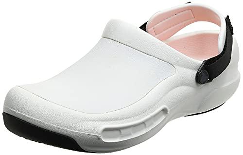 Crocs Bistro Pro LiteRide Unisex Adulta Roomy Fit, Blanco (White 100), 38/39 EU