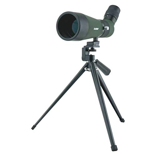 SVBONY SV404 Spotting Scope 12-26x60mm Portable Entry Level Spotting Scope Mini Spotting Scope for Indoor or Outdoor Shooting Range Bird Watching Hiking with Carrying Case