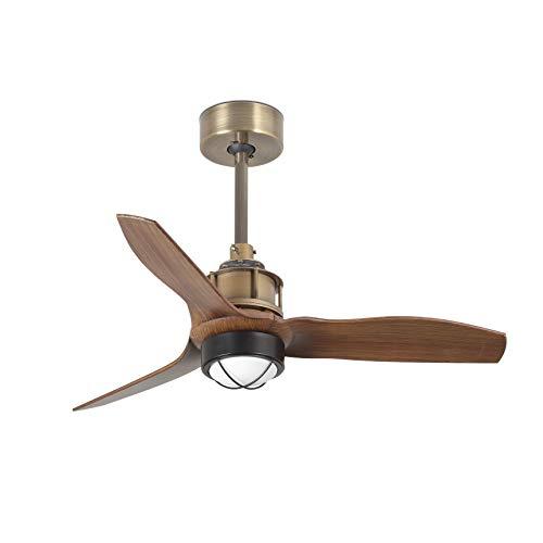 Faro Barcelona 33428-10- JUST FAN LED Ventilador de techo oro viejo/madera 81cm