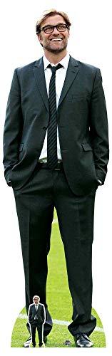 Star Cutouts CS791 Jurgen Klopp, lebensgroß, Pappaufsteller mit Fußball, 189 cm hoch, mehrfarbig