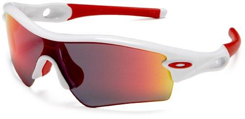 Oakley Radarlock - Gafas para hombre, tamaño Unisex, color polished blanco / oo red iridium polarized