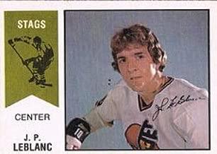 1974 O-Pee-Chee WHA (Hockey) Card# 36 J.P. Leblanc of the Michigan Stags NrMt Condition