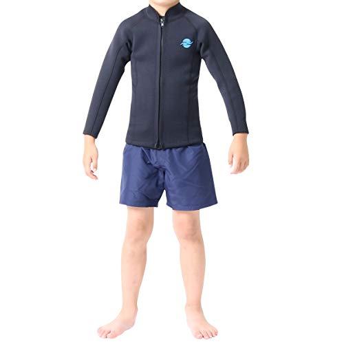 ZEAK(ジーク) ウェットスーツ キッズ 長袖 タッパー (2mm) ウエットスーツ 12号サイズ