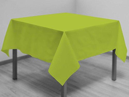 Tafelkleed met vlekbescherming vierkant 180x180 cm ALIX anis
