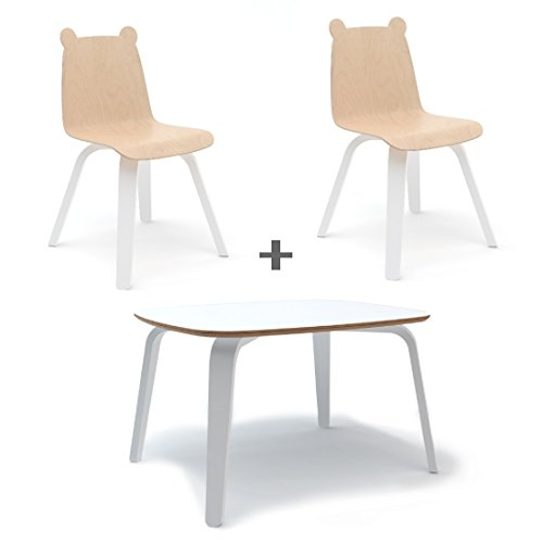 Oeuf Bear Play Chairs and Table Set in covid 19 (Plywood Library Table coronavirus)