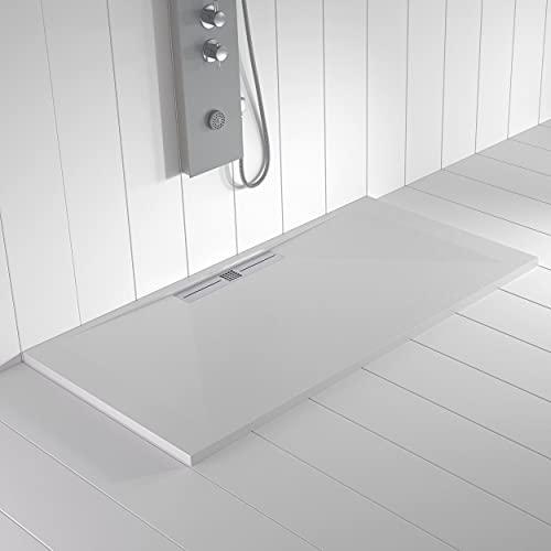 Shower Online Plato de ducha Resina WIDE - 90x200 - Textura Pizarra...