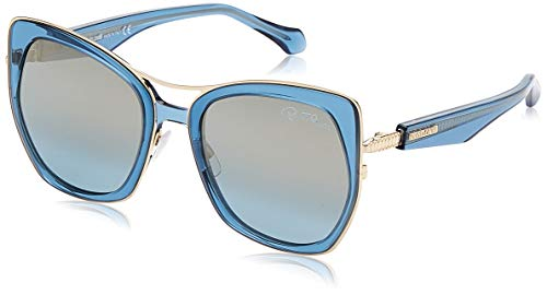 Roberto Cavalli Gafas de sol RC 1093 Monteverdi 84X Shiny Transp. Azul, Oro pálido/