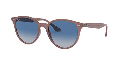 Ray-Ban RB4305 Round Sunglasses, Opal Antique Pink/Grey Gradient Dark Blue, 53 mm