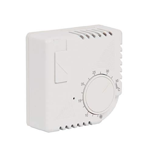 VOVOL LY-7000B Raumthermostat Mechanischer Raumthermostat Regler 220V Zentralheizung Regler DialType Thermostat Weiß