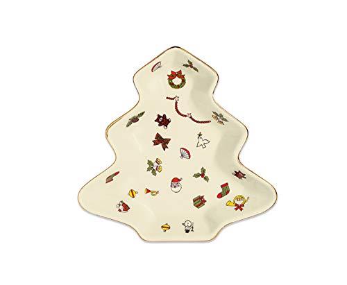 EDZARD TAITU Schale Noel, Höhe 16 cm, Porzellan, weihnachtliches Muster, Tanne