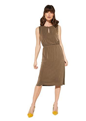 comma Damen 81.907.82.5055 Kleid, Grün (Khaki 7970), (Herstellergröße: 40)