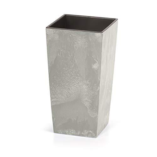 Prosperplast Urbi Square Beton Bloempot Plantenbak Beton-Design 2-in-1 incl. Plantenpot Kunststof Vierkant beton. 126mm