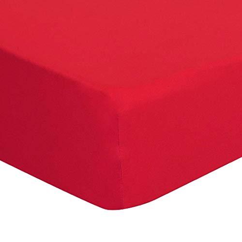 YeVhear - Sábana bajera ajustable de 200 hilos, 100% algodón, con bolsillo grande de 15 pulgadas, sábana bajera ajustable de 80 x 190 x 99 cm