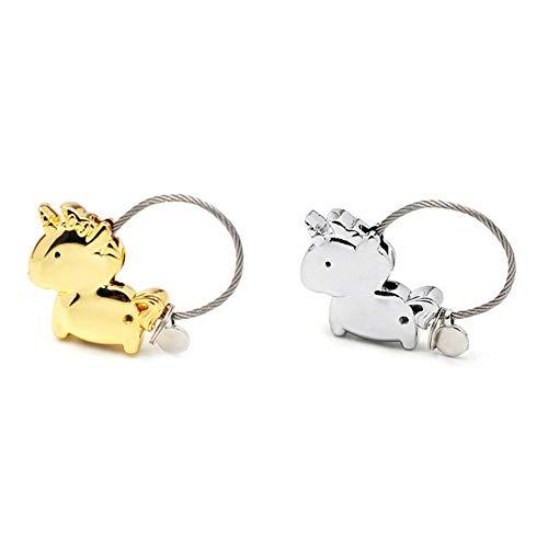 Yangliu, portachiavi con unicorno, accessorio in metallo, decorazione carino per coppie, regali, borse, telefoni cellulari, chiavi, ciondoli, vari colori