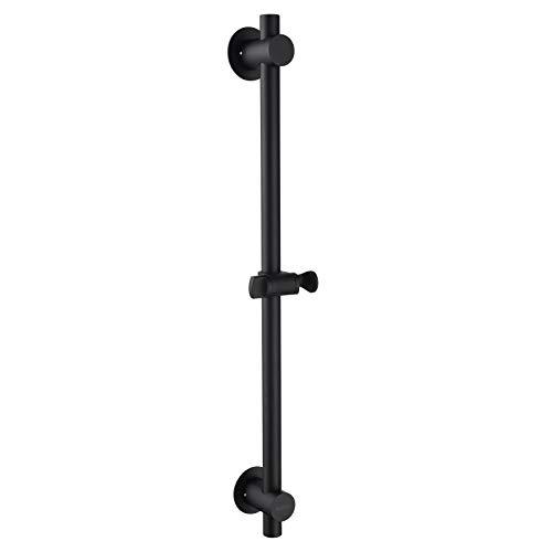 Tecmolog Duschstangenhalter für Wand 304 Edelstahl Duschset mit Duschkopf Schwarz Verstellbar Duschgleitgarnitur Bad Lift Shower,SBH156AB