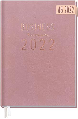 Chäff Business-Timer 2022 A5 [Altrosa] 1 Woche 2 Seiten | Terminplaner, Wochenplaner, Wochenkalender, Organizer, Terminkalender für perfektes Zeitmanagement | nachhaltig & klimaneutral