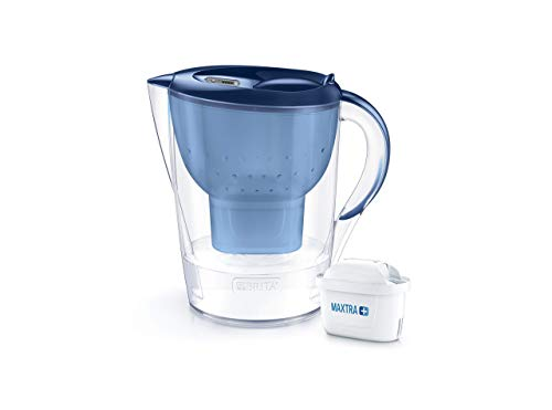 BRITA Marella XL German Engineered Water Filter Jug – Stylish Portable Convenient 3.5 Liters Blue, Ideal For Fresh and Tasty water