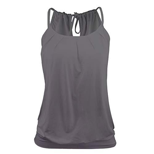 Stynice Top Damen Sommer Ärmellose T Shirt Oberteile Elegant Bluse Tank Top Losen