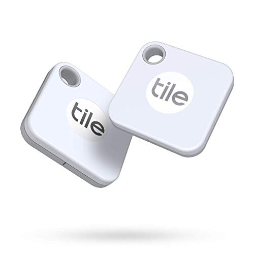 Tile Mate(2020) buscador de objetos Bluetooth, Pack de 2, blanco, Radio búsqueda 60m, batería 1año sustituible, compatible con Alexa, Google Smart Home, iOS, Android, Busca llaves, mandos a distancia