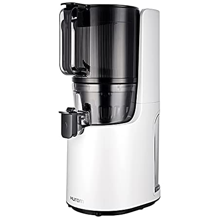 ヒューロムスロージューサー H-200(ホワイト)   スロージューサー ジューサー ミキサー コールドプレスジュース 自動搾汁