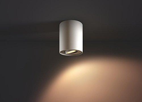 Philips Hue LED Spot Pillar Erweiterung, alle Weißschattierungen, steuerbar via App, weiß, 5633031P8 - 5