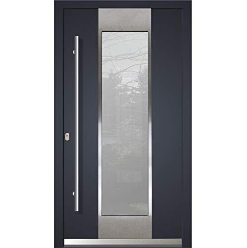 Haustür Welthaus WH94 RC2 Premiumtür LA123 Aluminium mit Kunststoff Tür 1000x2100mm DIN Links Farbe aussen Anthrazit Innen weiß außengriff BGR1600 innendrucker M45 Zylinder 5 Schlüßel