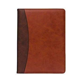 Samsill Two-Tone Padfolio Resume Portfolio/Business Portfolio & Organizer Writing Pad  Brown & Dark Brown Letter Size