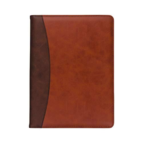 Samsill Two-Tone Padfolio Resume Portfolio/Business Portfolio & Organizer, Writing Pad (Brown & Dark Brown, Letter Size)