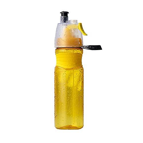Grande Capacidad Botella De Agua Deportiva,A Prueba De Fugas Plástico Botella De Agua,Reutilizable Aerosol Taza para Ciclismo Corriendo Gimnasio Deportes,580ml,750ml-Amarillo 750ml
