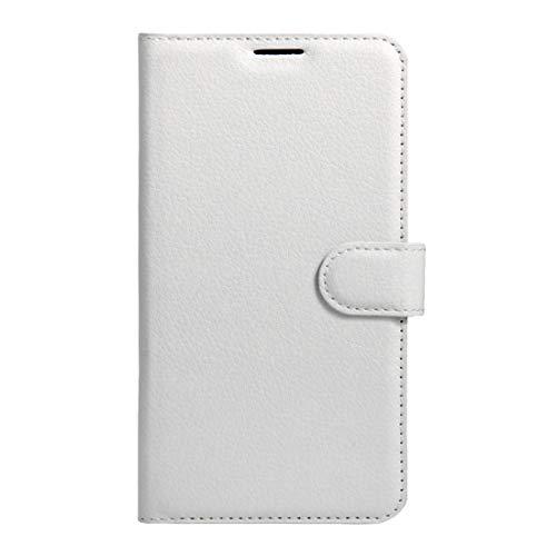 RONGCHAO Tasche für Mobiltelefon Für Wiko K Kool und Jerry Litchi Texture Horizontal Flip Leder Tasche mit Magnetschnalle und Kartenhalter und Kartenhalter (Schwarz) Shell Cover (Farbe : Weiß)
