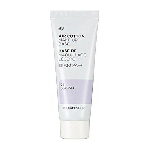 The Face Shop ザ・フェースショップ エアコットン・メーキャップベース 40ml 02 ラベンダー (AIR COTTON MAKE UP BASE 02 Lavender) 海外直送品