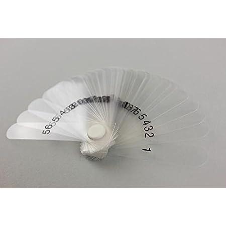 Rannb Plastic Feeler Gauge 0.05mm to 2mm Metric Gap Measuring Tool 20 Leaf