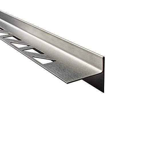 tktrading24 Dusch-, Keil-Profil Gefälleprofil begehbare Dusche gebürstet 10mm Rechts 100cm