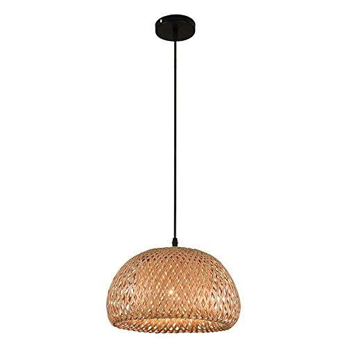 Lámpara de bambú tropical Lámparas de luz retro Lámparas de mimbre Lámparas de araña Lámpara de techo Lámpara de techo de granja Lámpara de techo de mimbre de mimbre de bricolaje L