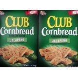 2 Boxes of Keebler Club Cornbread Cracker Bites with Jalapeno