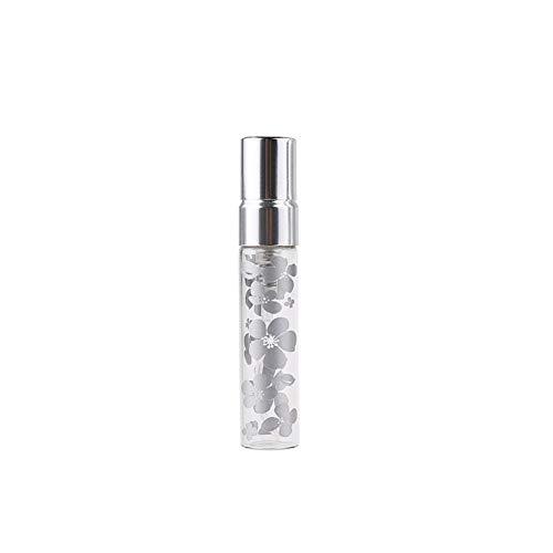 Flacon 2 Pieces/Lot 5ML 10ML Portable Nouveau Style en Verre Bouteille De Parfum avec De L'aluminium Et De Pulvérisation EmptyCosmetic Tube for Travel