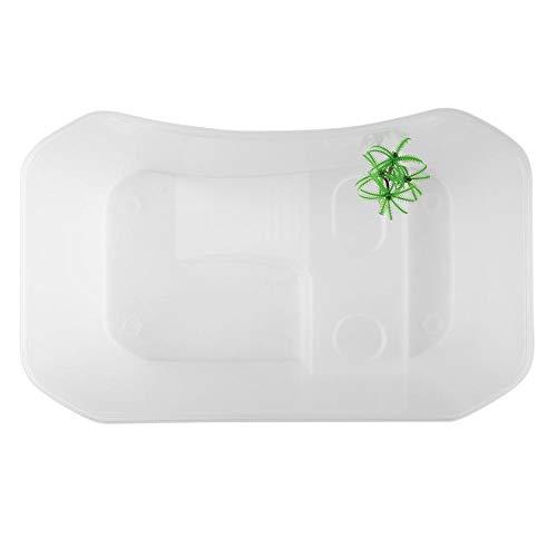 40 * 23 * 13 cm Reptil Offenen Aquarium mit Aal Plattform Schildkröte Lebensraum Reptilien Amphibien Terrarium Zucht Box Tragbare Transparente Schildkröte Fütterungsbox(Weiß)