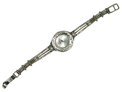 Valentine \'s Love Uhr, Sterling-Silber, Weiß, Perlen, Cabochon-Mode
