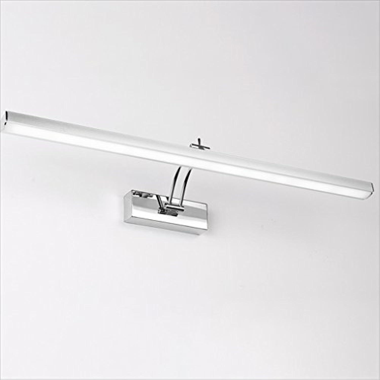 LU-Badezimmer Moderne minimalistische Badezimmer LED Nebel Spiegel Licht Spiegel Kabinett Licht wasserdichte Wand Lampe Make-up Lichter (Farbe   8W 50CM)