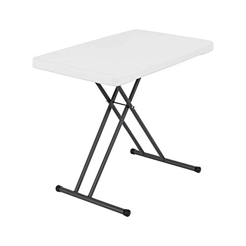 LIFETIME 28241 30-Inch Adjustable Height Personal Table, White Granite, 30 Inch