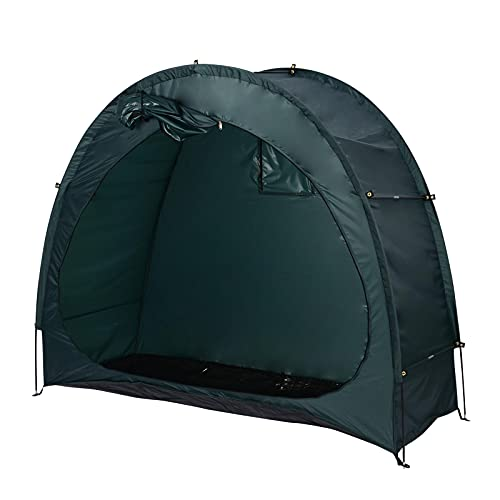 ColdShine I6T8 Bike Sheds, Oxford cloth Waterproof Bicycle Garden Storage Shed Cave Tent Cover, Outdoor Durable Shelter Anti Dust Rain UV Protection (Green)