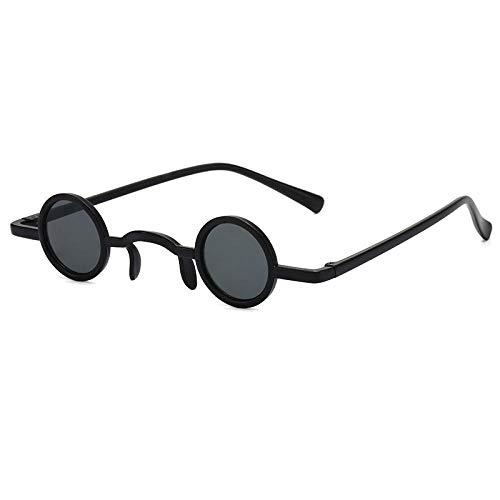 chuanglanja Gafas De Sol Wayfarer Gafas De Sol Redondas Mujer Hombre Lente De Color Vintage Marco Negro Gafas De Sol De Estilo Lindo UV400-Color-X