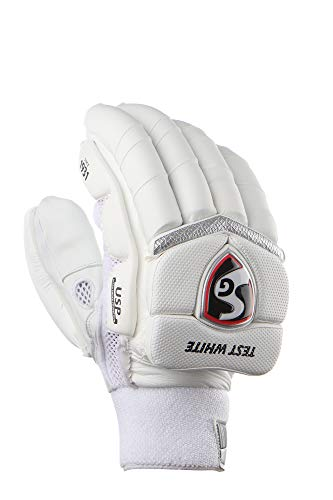 SG Test White Cricket Batting Gloves Mens Size (Right)