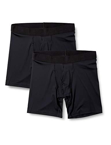 Under Armour Tech Mesh (15 cm) en un Pack de 2, bóxers Ajustados Hombre, Black / Black, XL