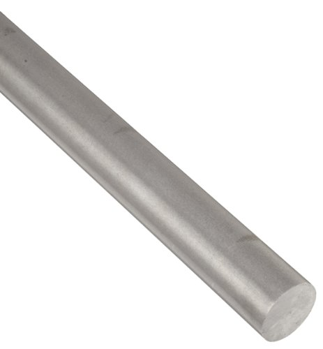 1018 Carbon Steel Round Rod, Unpolished (Mill) Finish, Cold Finished Temper, ASTM A108, 1' Diameter, 12' Length