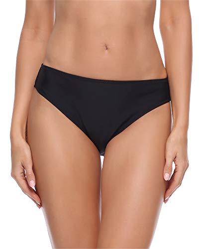 Merry Style Damen Bikini Slip Unterteil D4S (Schwarz (2), 38)