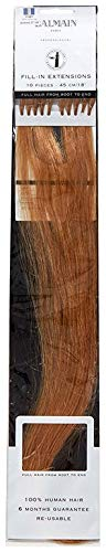 Balmain Extensiones de pelo humano de 50 piezas, 55 cm de largo, 8A rubio ceniza natural, 45 g